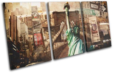 New York Vintage Collage City - 13-6006(00B)-TR21-LO